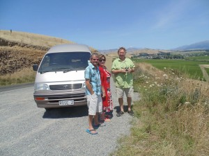 A tour in their backpacker's van through some scenic wine country