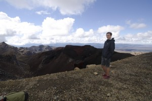 At the top on Red Crater